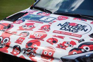 ヌービルのドライブするヒュンダイi20 R5は『レッド・ノーズ・デイ(Red Nose Day)』のチャリティーカラーをまとう