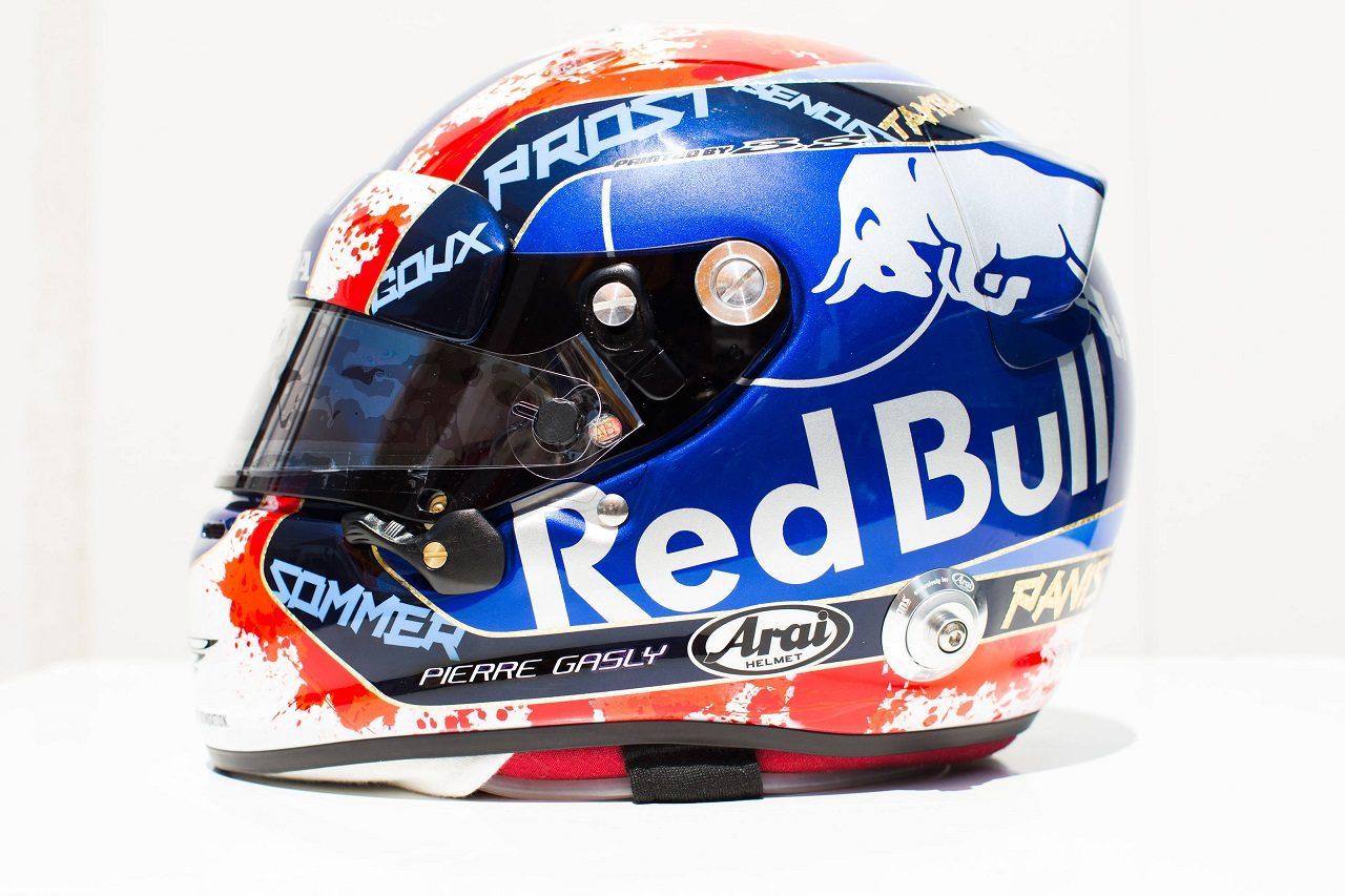 2018年F1第8戦フランスGP ピエール・ガスリー(トロロッソ・ホンダ)のスペシャルヘルメット