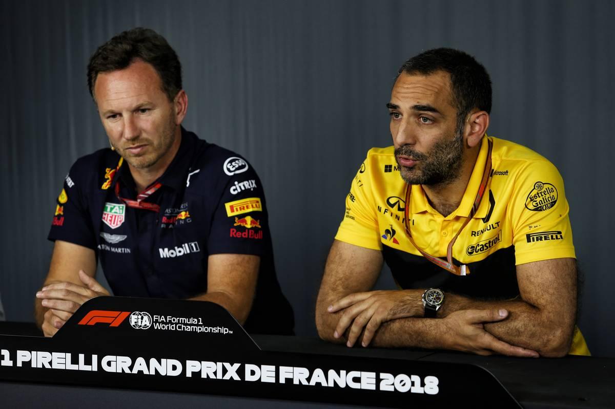 2018年F1フランスGP ルノーのシリル・アビテブールとレッドブルのクリスチャン・ホーナー