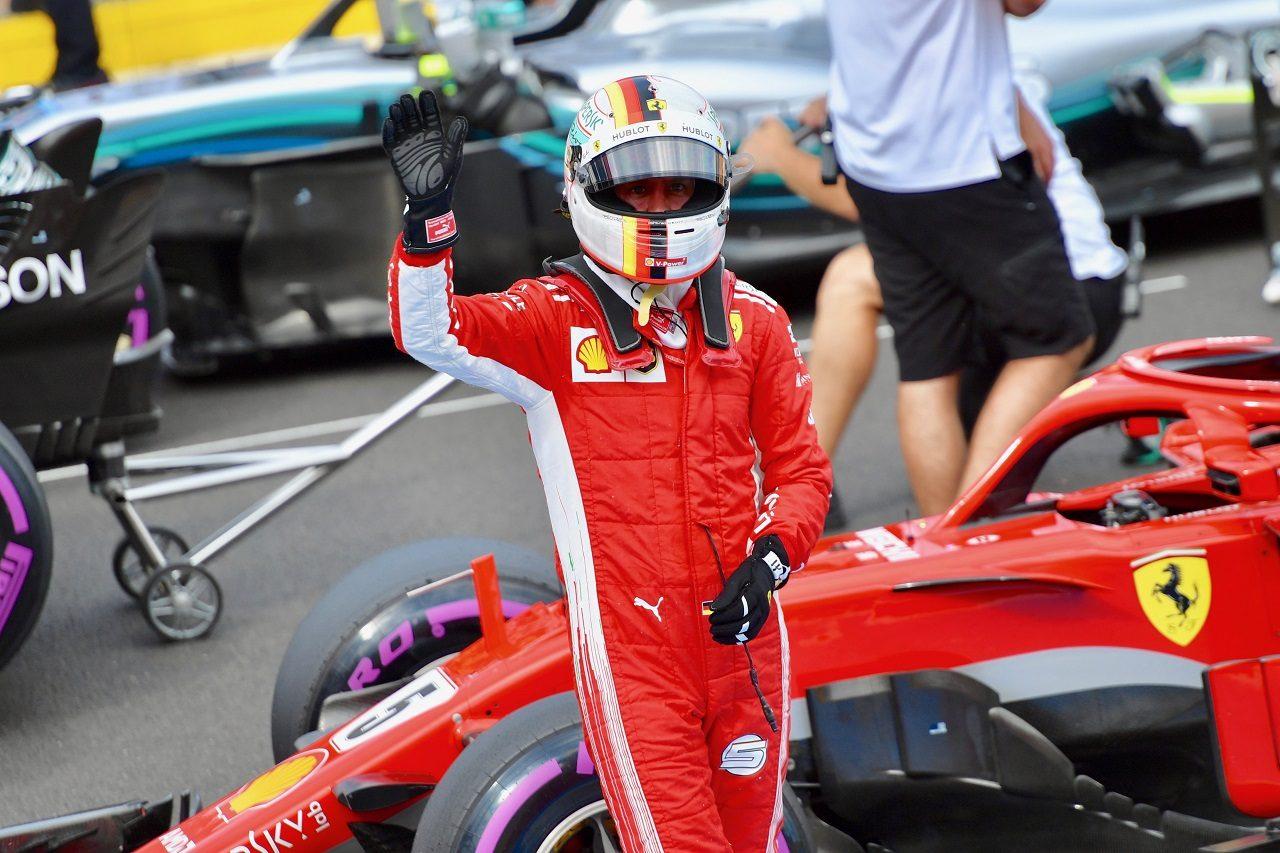 2018年F1第8戦フランスGP 予選3位のセバスチャン・ベッテル(フェラーリ)