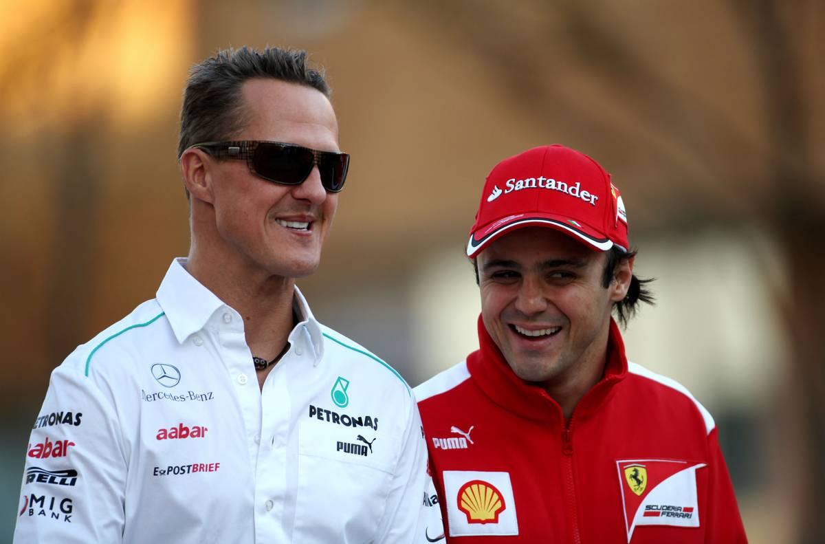 2012年F1韓国GP メルセデスのミハエル・シューマッハーとフェラーリのフェリペ・マッサ