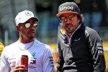 2018年F1第9戦オーストリアGP決勝 フェルナンド・アロンソ、ルイス・ハミルトン