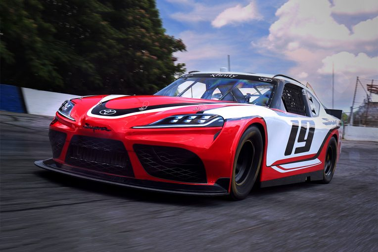 海外レース他   トヨタ、NASCARエクスフィニティに2019年からスープラを投入。市販車は19年前半から発売