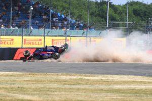 2018年F1第10戦イギリスGP FP3のブレンドン・ハートレーが大クラッシュ