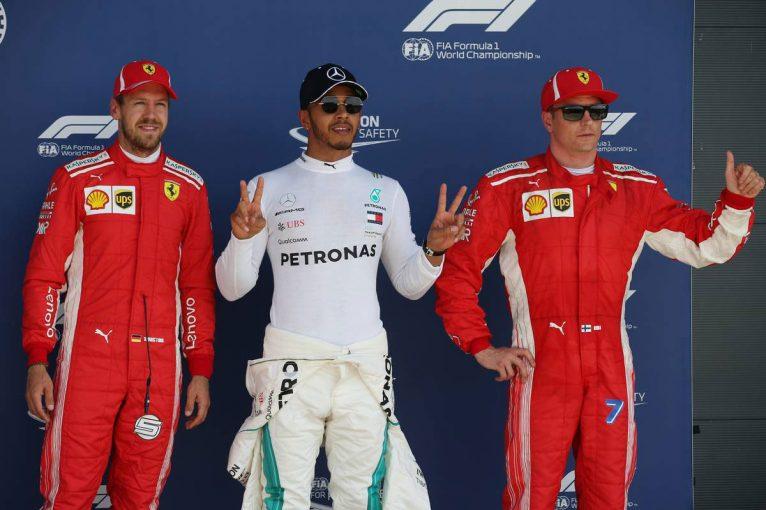 F1   F1イギリスGP予選:母国GPのハミルトンがポールを獲得、僅差でフェラーリ勢が続く