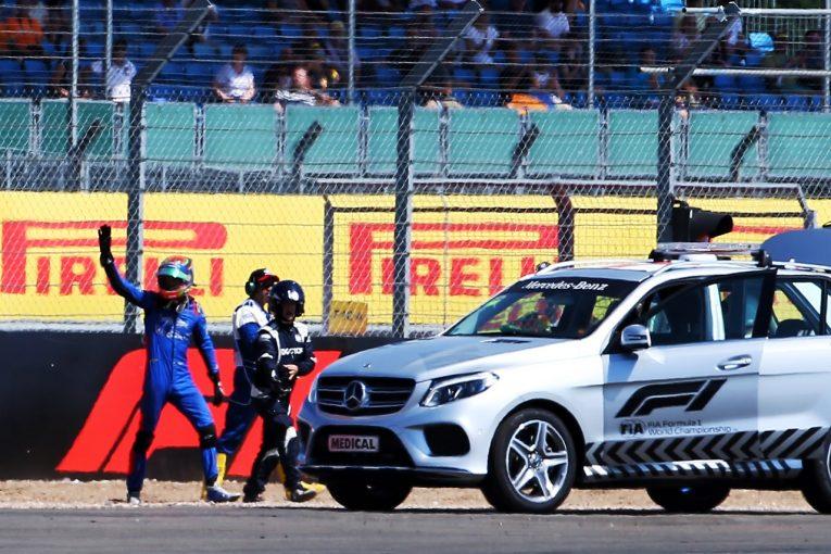 F1   ハートレー「突然サスペンションが壊れ、怖がる時間すらなかった」予選欠場も、決勝出走が許可:トロロッソ・ホンダ F1イギリスGP