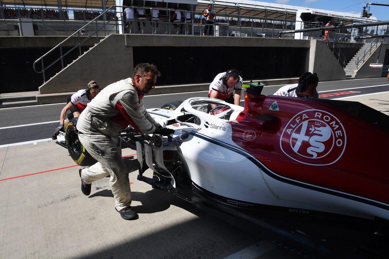 2018年F1第10戦イギリス シャルル・ルクレール(ザウバー)