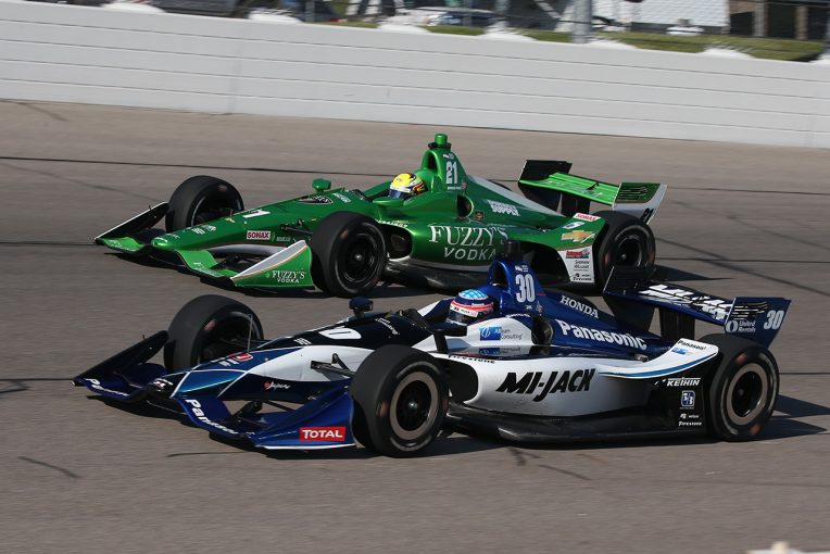 海外レース他 | インディカー第11戦アイオワ速報:佐藤琢磨が今シーズン初の3位表彰台を獲得