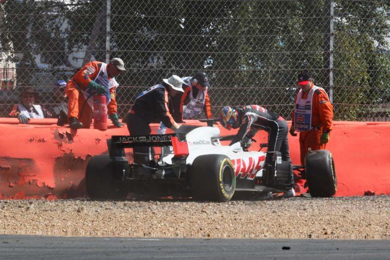 F1   サインツとクラッシュを喫したグロージャン「どこにも行き場がなかった」:ハース F1イギリスGP日曜