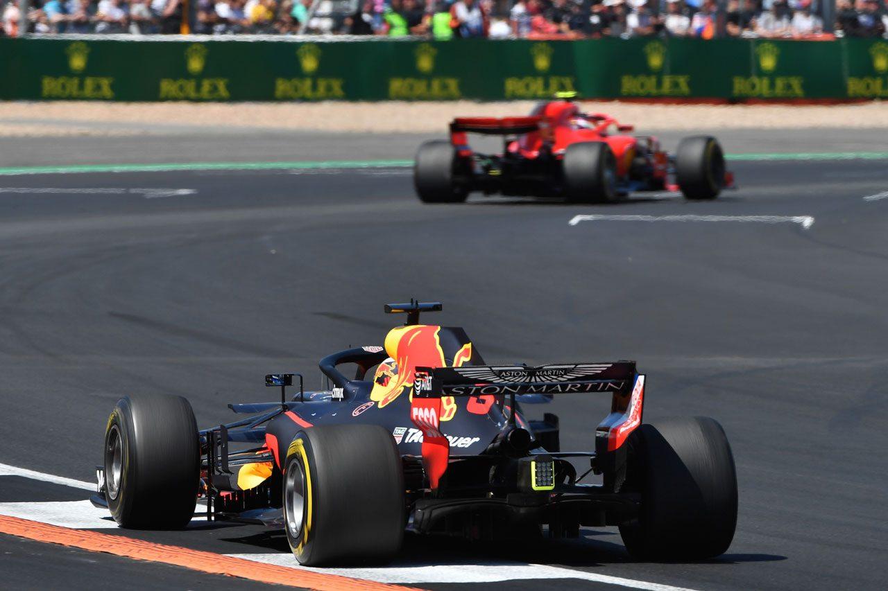 2018年F1イギリスGP ダニエル・リカルド(レッドブル)とキミ・ライコネン(フェラーリ)