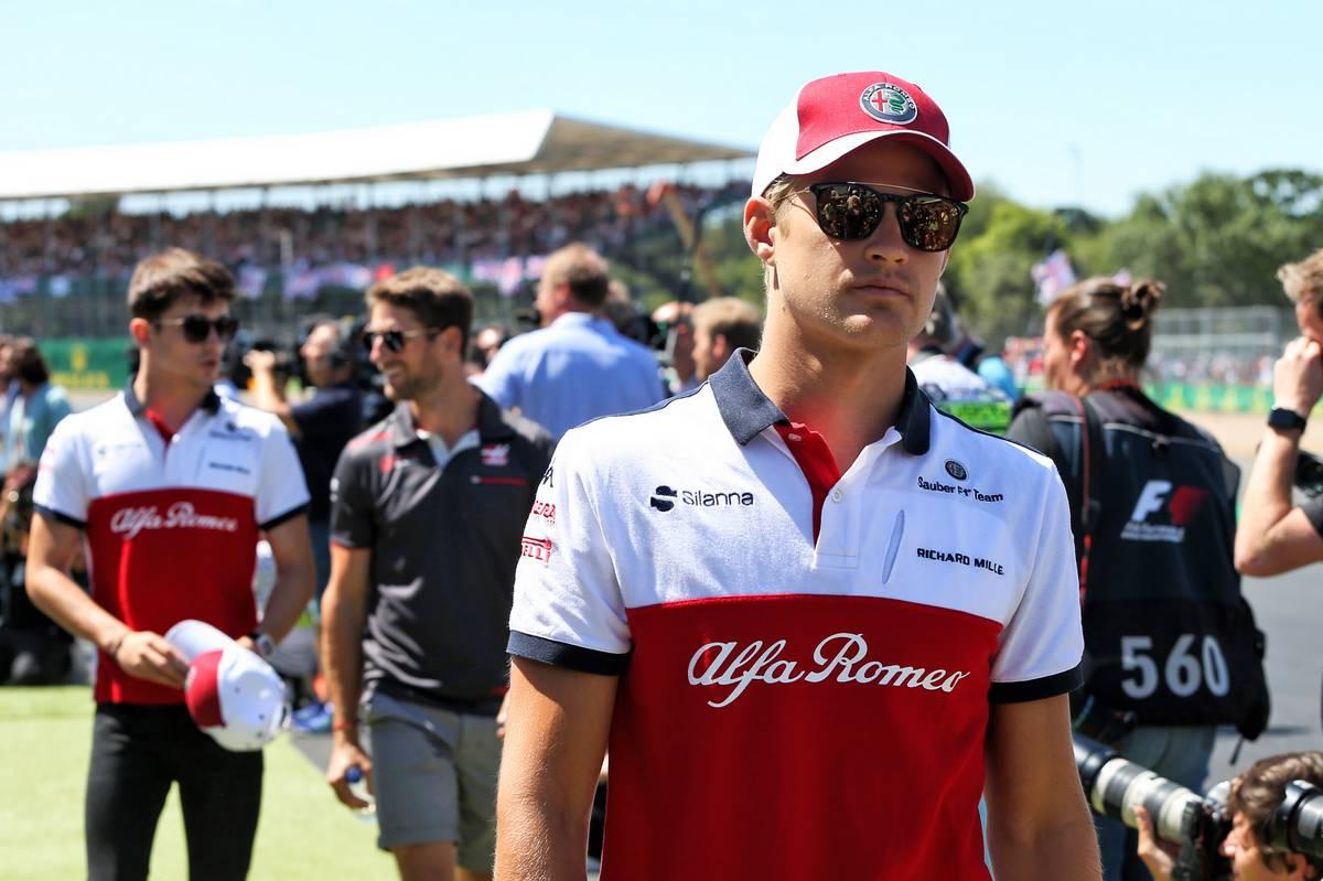 2018年F1イギリスGP ザウバーのマーカス・エリクソンに、シャルル・ルクレール、ハースのロマン・グロージャン