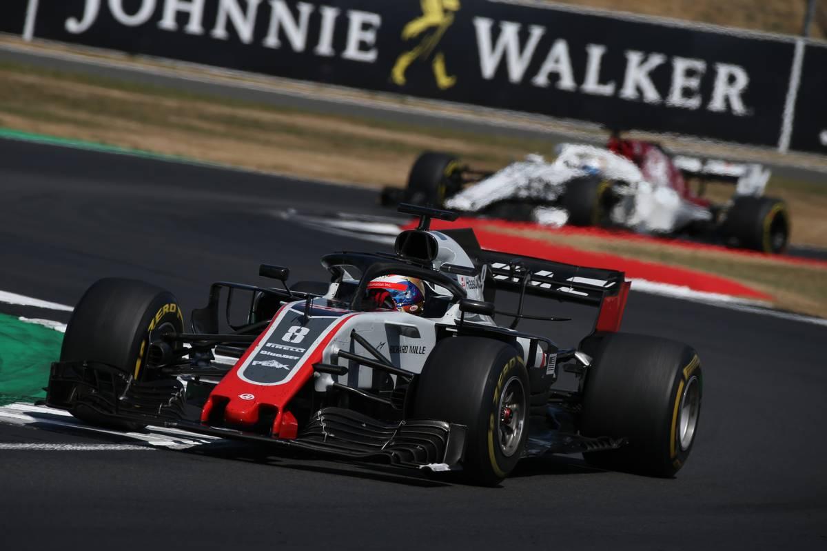 2018年F1イギリスGP ハースのロマン・グロージャンとザウバーのマーカス・エリクソン