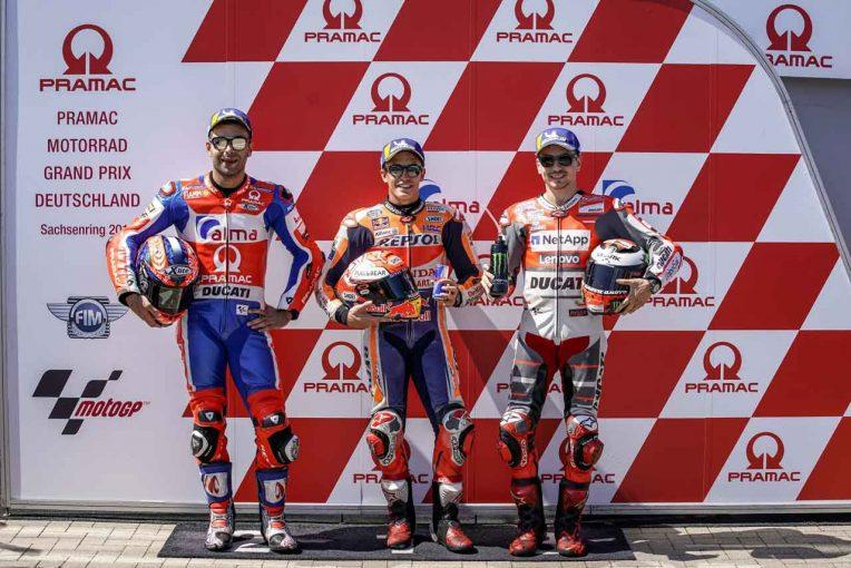 MotoGP | MotoGP:マルケス「チームの完璧な戦略がポールにつながった」/ドイツGP予選トップ3コメント