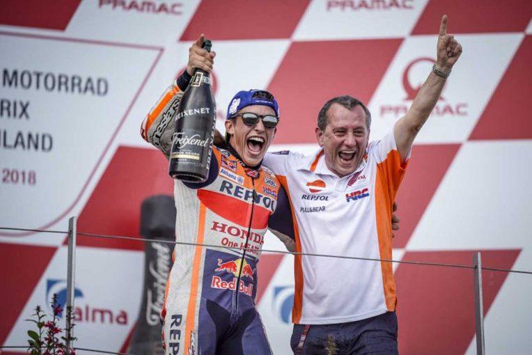 MotoGP | MotoGP:マルケス、ロッシが見えたので「プッシュすることに決めた」/ドイツGP決勝トップ3コメント