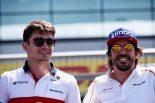 F1 | F1で311レースを戦ったアロンソ、「チャンピオンシップは9月に勝負が決まる」とルクレールに助言
