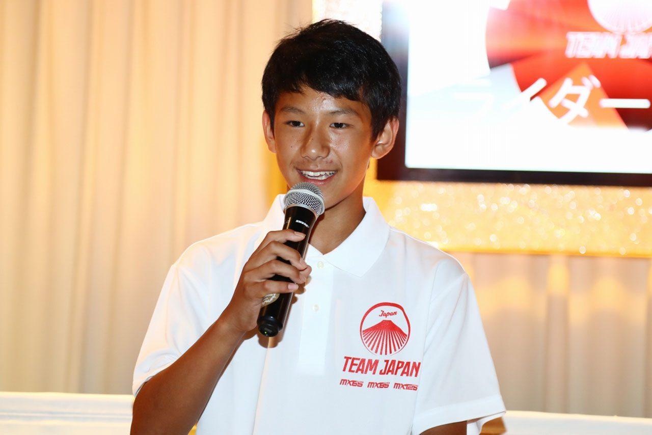 世界に挑むモトクロスライダー日本代表が登場。国別対抗戦とジュニアによる世界大会の壮行会が開催