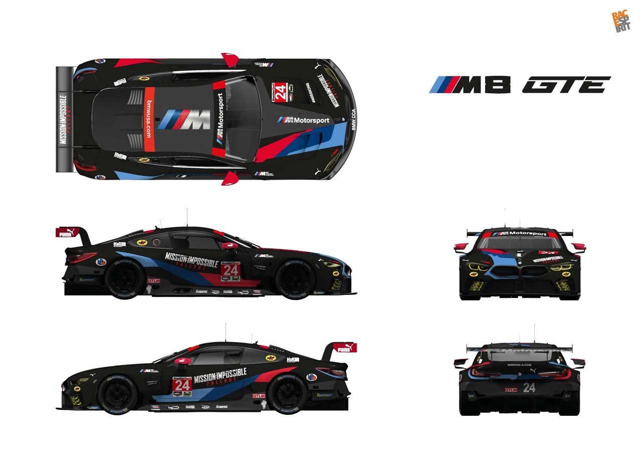 IMSA:映画『ミッション:インポッシブル』とBMWがコラボ。M8 GTEが特別カラーに