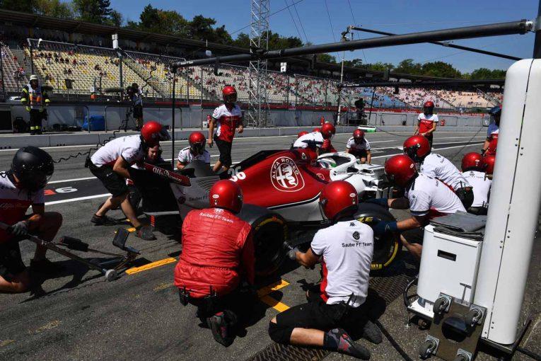 F1 | 【動画】ザウバーのエンジンカウルが走行中に脱落/F1ドイツGP フリー走行1回目