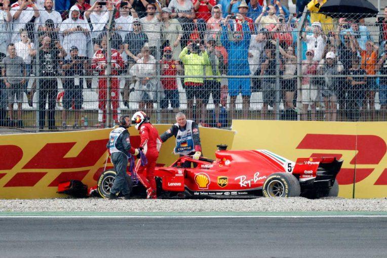 F1 | 【動画】ベッテルがクラッシュ。ノーポイントでレースを終える/F1ドイツGP 決勝
