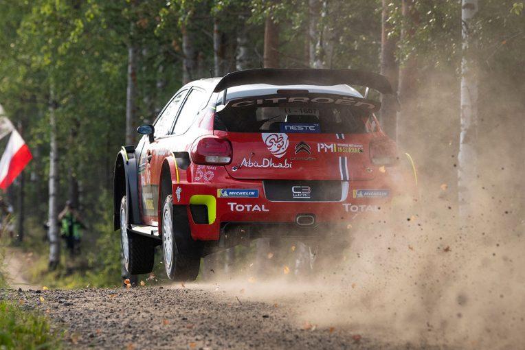 ラリー/WRC   WRCフィンランド:マシン改良の効果か。第8戦シェイクダウンでシトロエン最速、トヨタ3~4番手