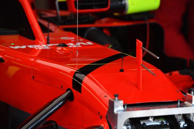 F1 | フェラーリ、元会長の死を悼み、マシンに黒いライン。「今やるべきことに集中するだけ」とベッテル:F1ハンガリーGP金曜