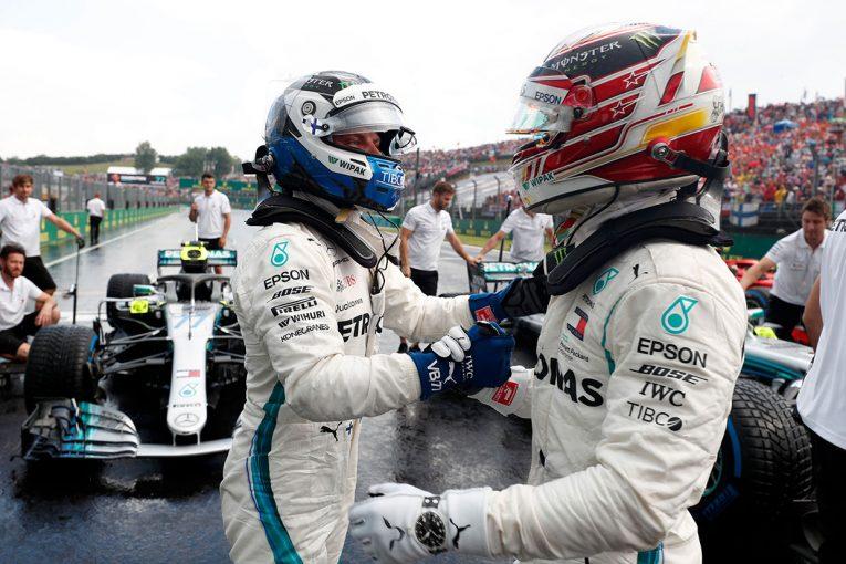 F1 | F1ハンガリーGP:雨の予選でメルセデスがフロントロウ獲得、ガスリー、ハートレーは2台揃ってQ3進出