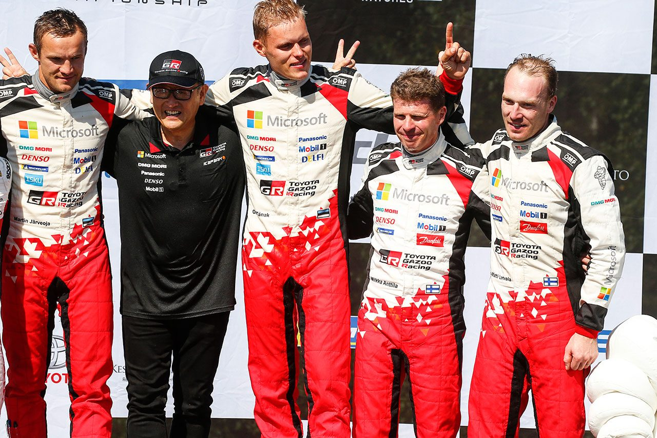 WRC:フィンランド戦連覇を現地で見守った豊田社長「この地が本当の意味で『母国』なんだと実感」