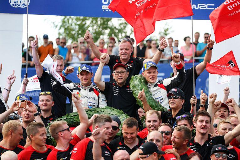 ラリー/WRC | WRC:トヨタ、ホームのフィンランド連勝。マキネン「オットは信じられないような走りを続けた」
