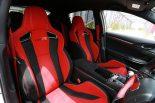 タイプR専用設計の赤いシートはかなり派手だが、走行時はしっかりと体を支えてくれる