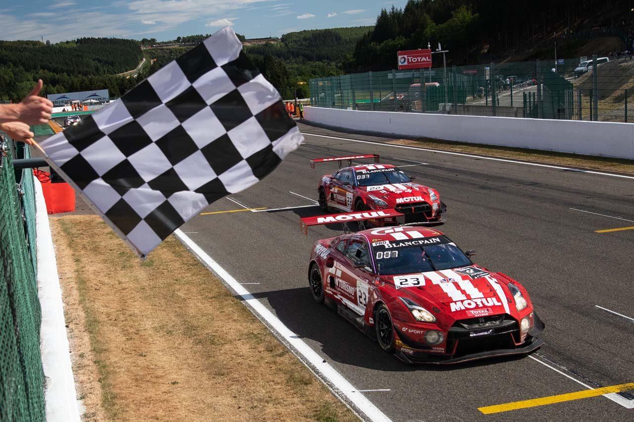 ニッサン、スパ24時間初参戦の2018年型GT-Rが7位入賞。「皆が誇れる仕事をした結果」とオルドネス