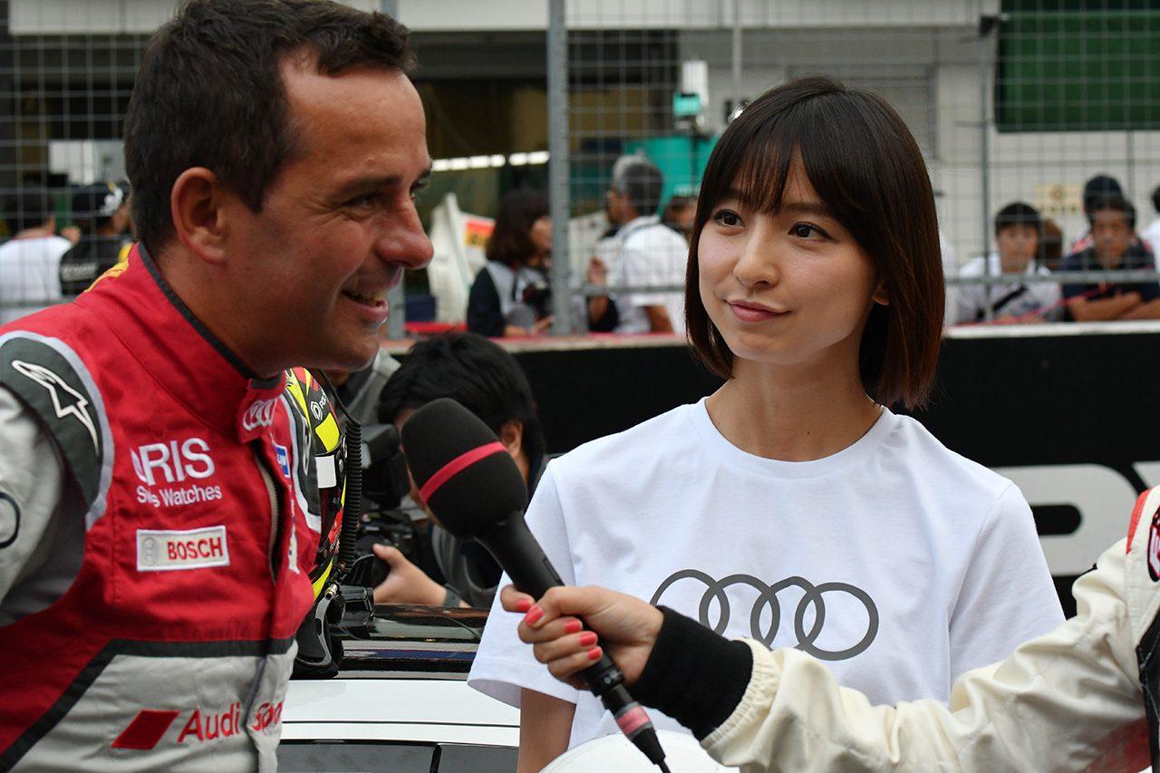 アウディのグランツーリスモ用コンセプトカーが富士疾走。トレルイエの走りを篠田麻里子さんも満喫