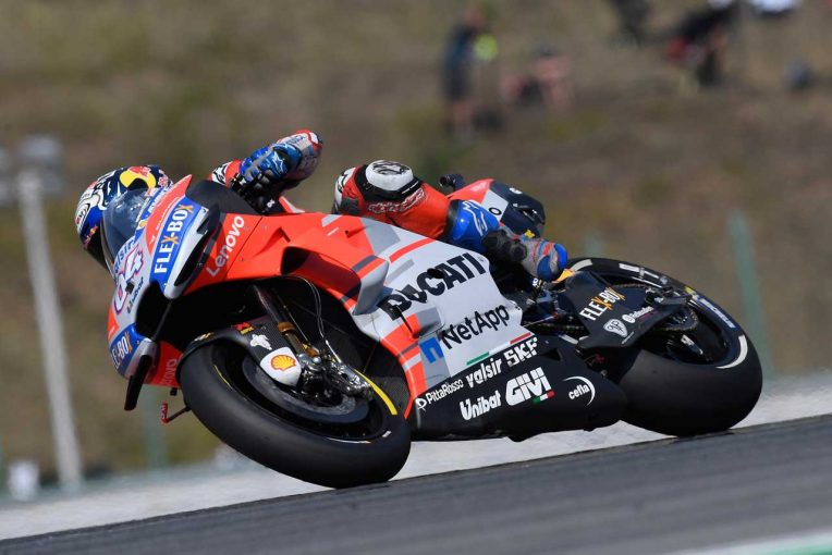 MotoGP | MotoGPチェコGP予選:ドヴィツィオーゾが新型フェアリングで今季初ポール。フロントロウはロッシとマルケス
