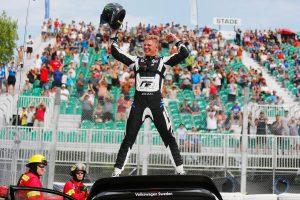 世界ラリークロス第7戦を制したヨハン・クリストファーソン(フォルクスワーゲン・ポロR スーパーカー)