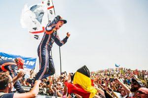 WRC第8戦終了時点でランキング首位につけるティエリー・ヌービル(ヒュンダイi20クーペWRC)