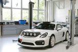 このラリー仕様ケイマンGT4クラブスポーツは、ラリー・ドイチェランドでコースカーとして走行する