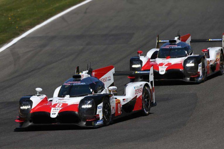 TOYOTA GAZOO Racingの8号車、7号車トヨタTS050ハイブリッド