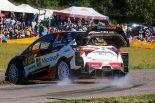 シェイクダウン最速タイムを記録したオット・タナク(トヨタ・ヤリスWRC)