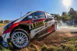 ラリー/WRC | WRCドイチェランド:トヨタのタナクが2日目も首位快走。王者オジエに12.3秒リード築く