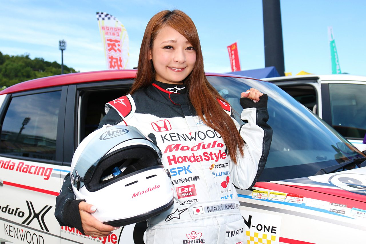 N-ONE OWNER'S CUPでレースデビューを飾った安藤麻貴さん