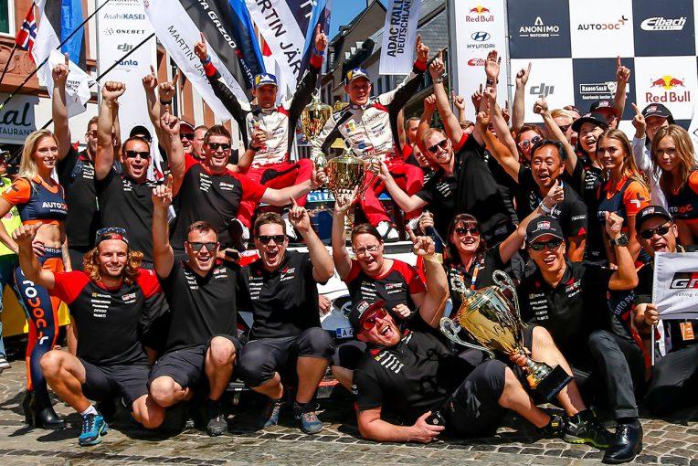 ラリー/WRC   WRC:トヨタ、2連勝でランキング2番手浮上。マキネン「タナクは今週末も傑出していた」