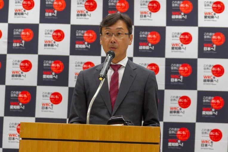 活動経過報告会を行ったWRCで日本ラウンド承知準備委員会の高橋浩司氏