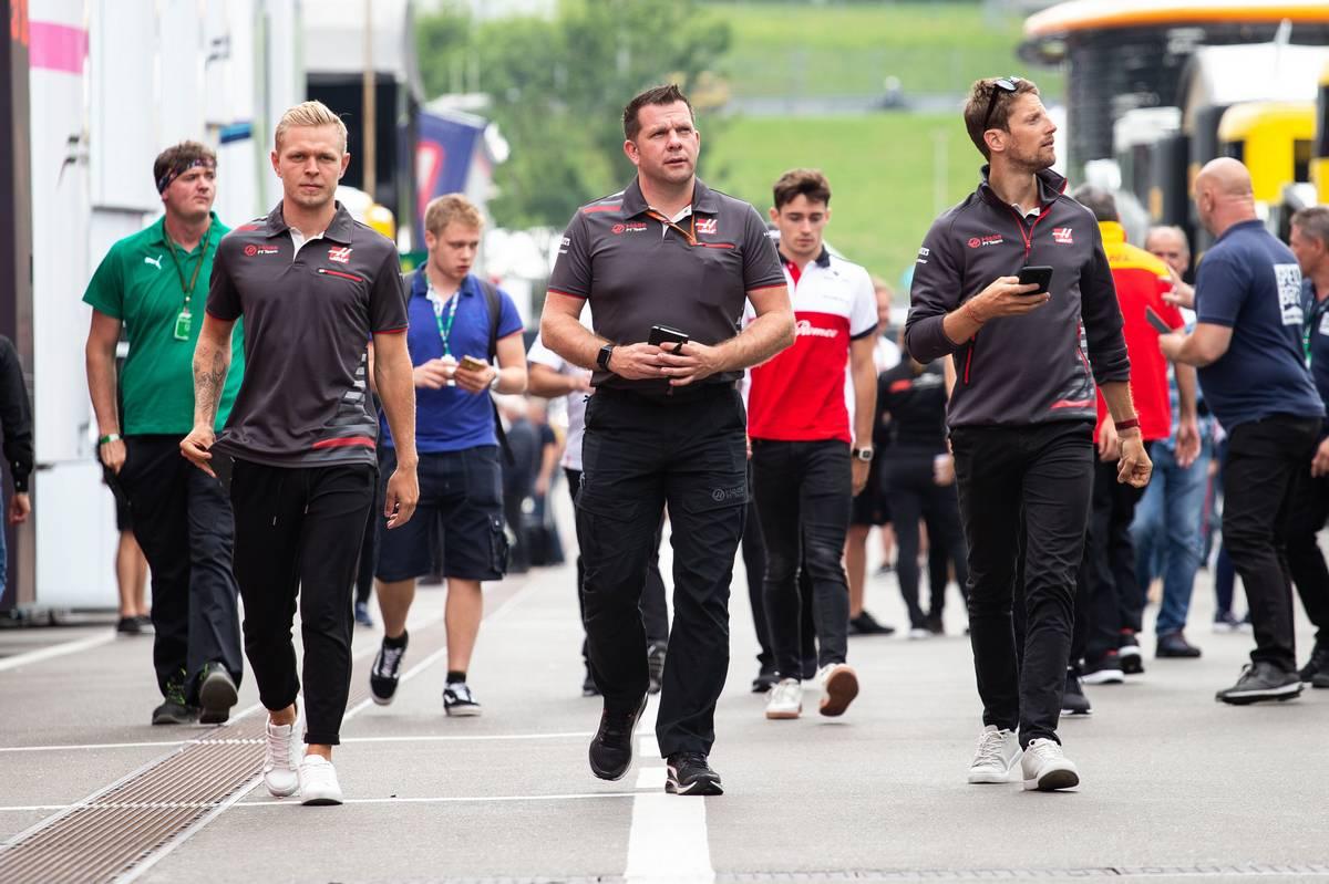 2018年F1オーストリアGP ハース ケビン・マグヌッセン ロマン・グロージャン