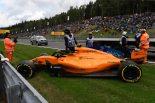 F1   【タイム結果】F1ベルギーGP FP3/バンドーンがクラッシュ。トップタイムはベッテルがマーク