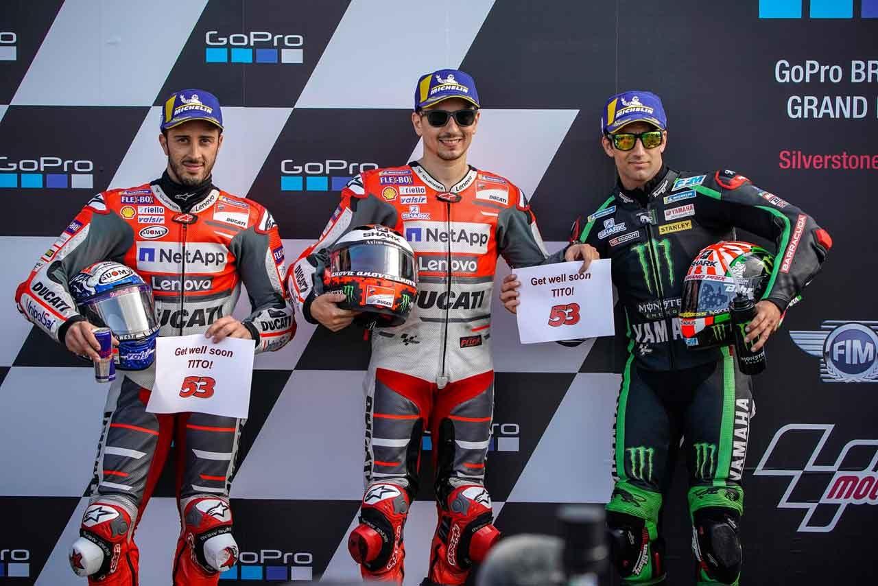 MotoGP:ロレンソ、ドゥカティはウエットで「とても戦闘力がある」/イギリスGP予選トップ3コメント