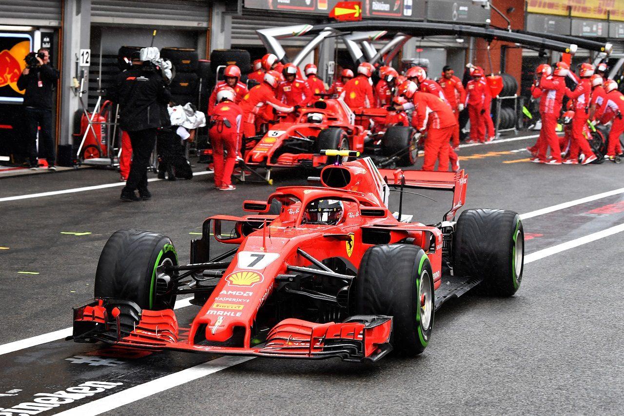 2018年F1第13戦ベルギーGP キミ・ライコネン(フェラーリ)