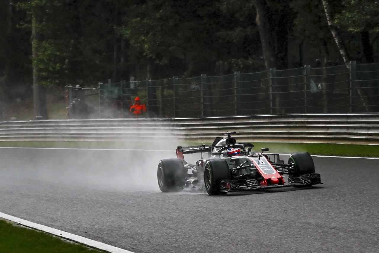 2018年F1第13戦ベルギーGP ロマン・グロージャン(ハース)