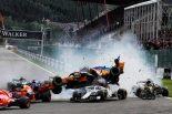 F1 | 【動画】オープニングラップの1コーナーで多重クラッシュ発生/F1ベルギーGP 決勝