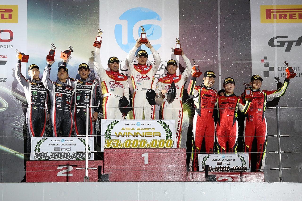鈴鹿10時間は強さをみせた888号車グループMメルセデスが制す。日本勢はグッドスマイルが5位