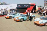 奥からフォードGT ヘリテージ・エディション、GT40 (1968)GT40(1969)