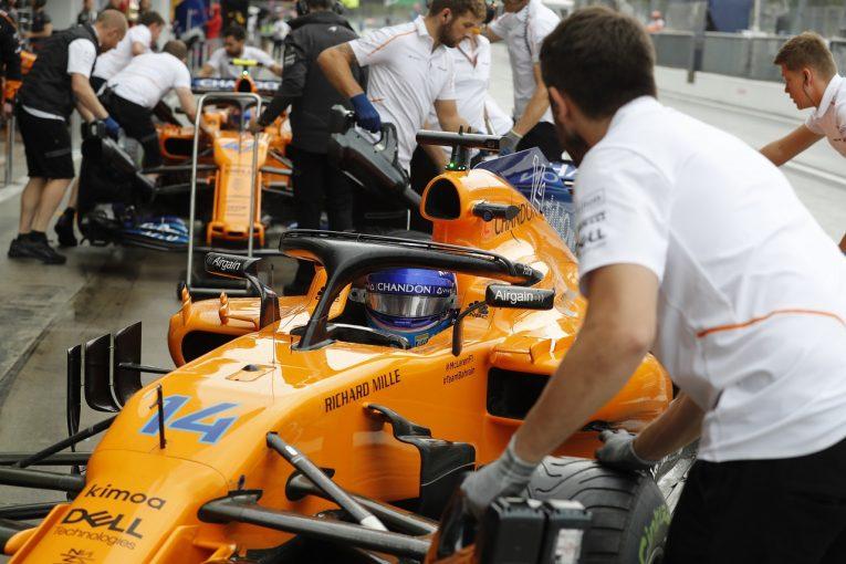 F1 | アロンソ「チャンスが見込めるシンガポールに向けてテストを行った」:F1イタリアGP金曜